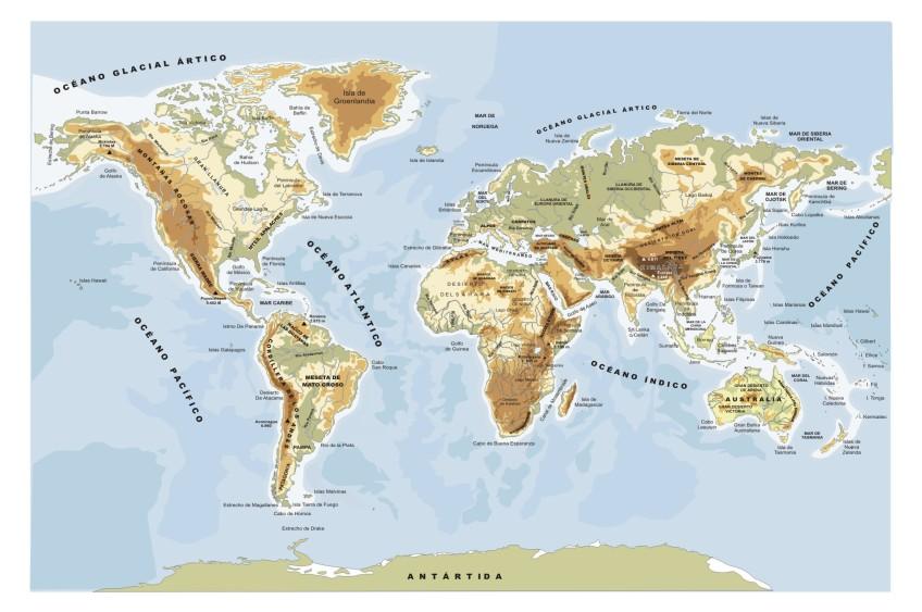 Mapamundi Relevo Viaxe A Itaca