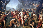 800px-Léonidas_aux_Thermopyles_(Jacques-Louis_David)