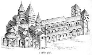 Abadía Beneditina de Cluny: berce do Románico Imaxe: Wikipedia