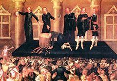 Execución de Carlos I / Fonte: wikipedia