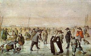 Escea no xeo, Hendrick Barentsz, 1625. Fonte: wikipedia