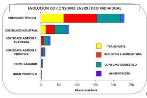 EVOLUCION DO CONSUMO ENERXETICO INDIVIDUAL