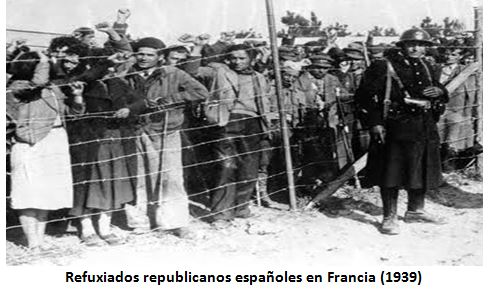 Resultado de imaxes para refugiados geurra civil española en francia