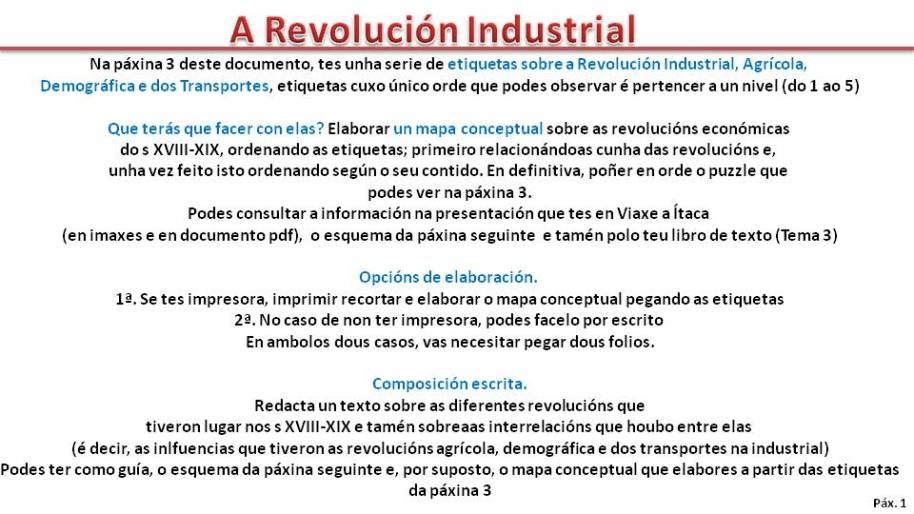 Actividade Revolución Industrial